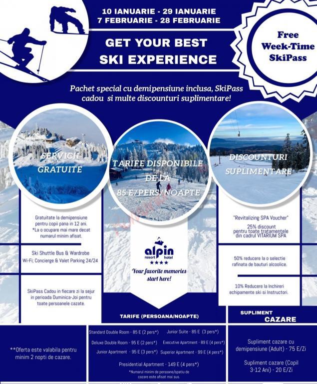 BRASOV SkiPass gratuit la schi in Poiana Brasov