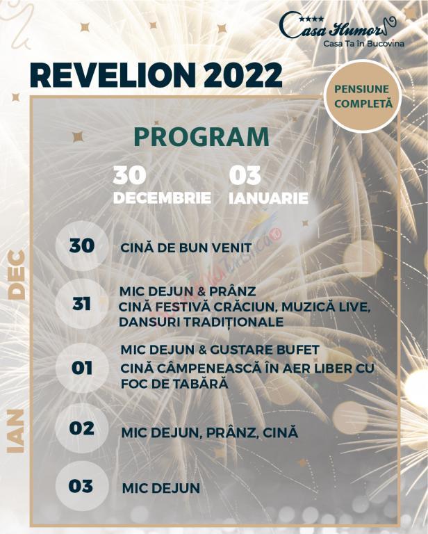 SUCEAVA Revelion 2022- Casa Humor Gura Humorului