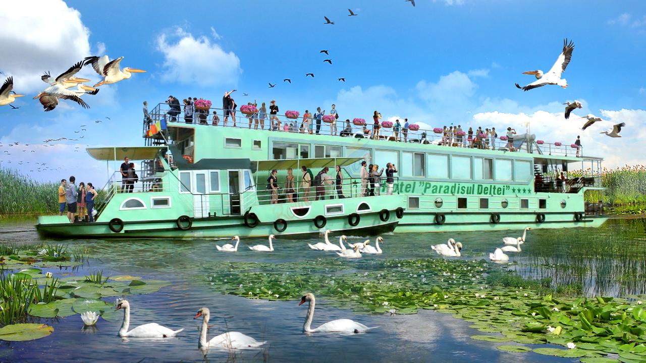 TULCEA Croaziera Delta Dunarii 2020 - Hotelul Plutitor Paradisul Deltei