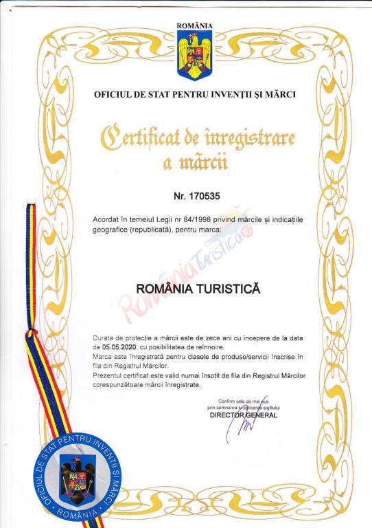 Marcă înregistrată România Turistică